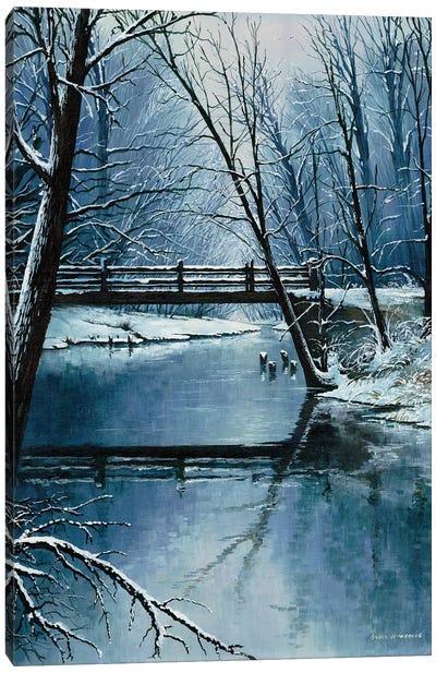 First Snow Canvas Art Print