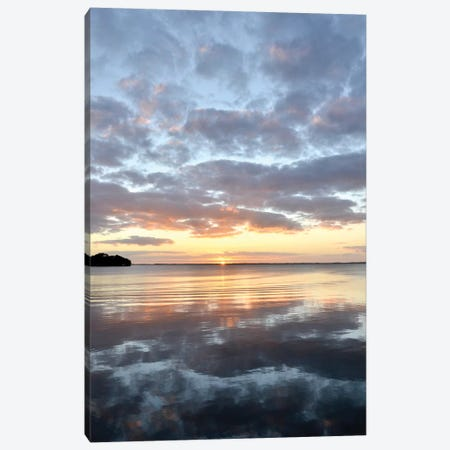 Lake Eustis Sunset Canvas Print #BNA20} by Bruce Nawrocke Canvas Art Print