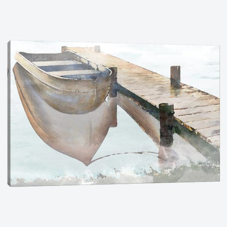 Nostalgic Pier 3-Piece Canvas #BNA28} by Bruce Nawrocke Canvas Art Print