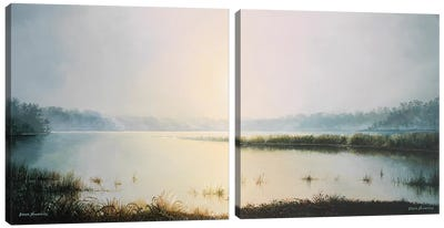 Early to Rise Diptych Canvas Art Print