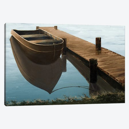 Quiet Blue Morning Canvas Print #BNA35} by Bruce Nawrocke Canvas Print