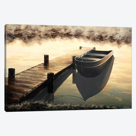 Quiet Morning Canvas Print #BNA36} by Bruce Nawrocke Art Print