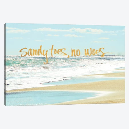 Sandy Toes, No Woes 3-Piece Canvas #BNA41} by Bruce Nawrocke Canvas Print