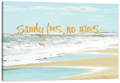 Sandy Toes, No Woes Canvas Art Print