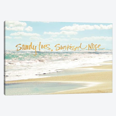 Sandy Toes, Sunkissed Nose Canvas Print #BNA42} by Bruce Nawrocke Canvas Art Print