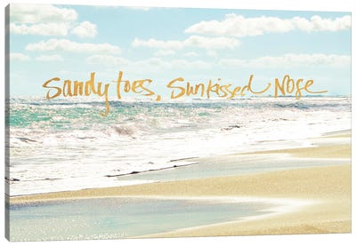 Sandy Toes, Sunkissed Nose Canvas Art Print