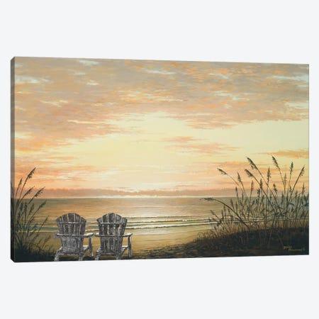 Sunset Chairs Canvas Print #BNA48} by Bruce Nawrocke Art Print