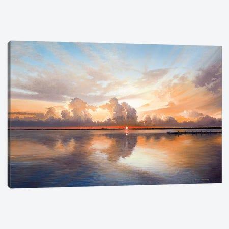 Sunset Sunrise Canvas Print #BNA50} by Bruce Nawrocke Canvas Artwork