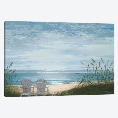 Beach Chairs Canvas Print #BNA6} by Bruce Nawrocke Canvas Wall Art