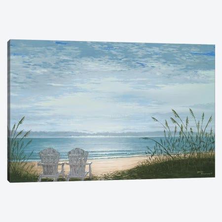Beach Chairs Canvas Print #BNA6} by Bruce Nawrocke Canvas Wall Art