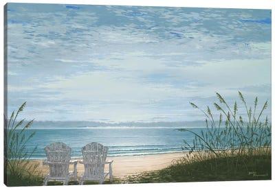 Beach Chairs Canvas Art Print