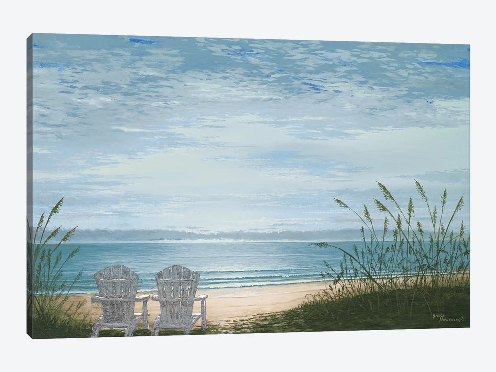 Beach Chairs by Bruce Nawrocke 1-piece Canvas Art Print