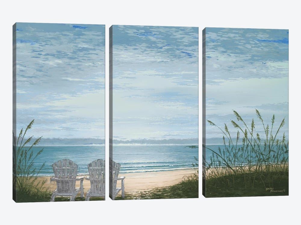 Beach Chairs by Bruce Nawrocke 3-piece Art Print