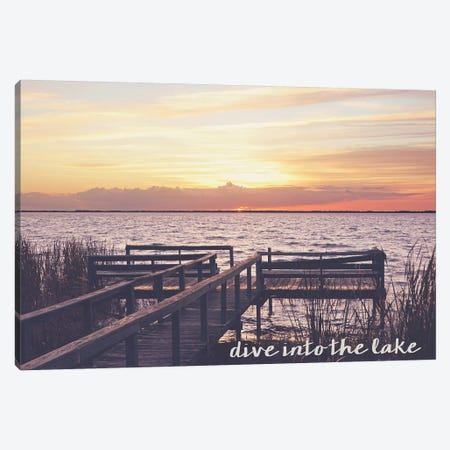 Dive Into the Lake Canvas Print #BNA8} by Bruce Nawrocke Canvas Print