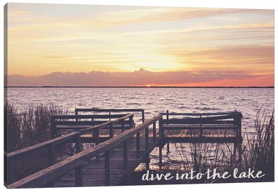 Dive Into the Lake Canvas Art Print