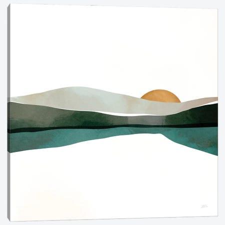 Teal Sunset Canvas Print #BNC115} by Bria Nicole Canvas Wall Art