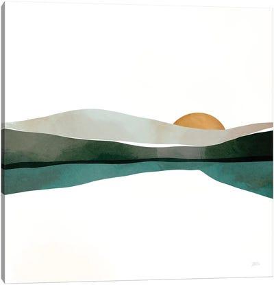 Teal Sunset Canvas Art Print