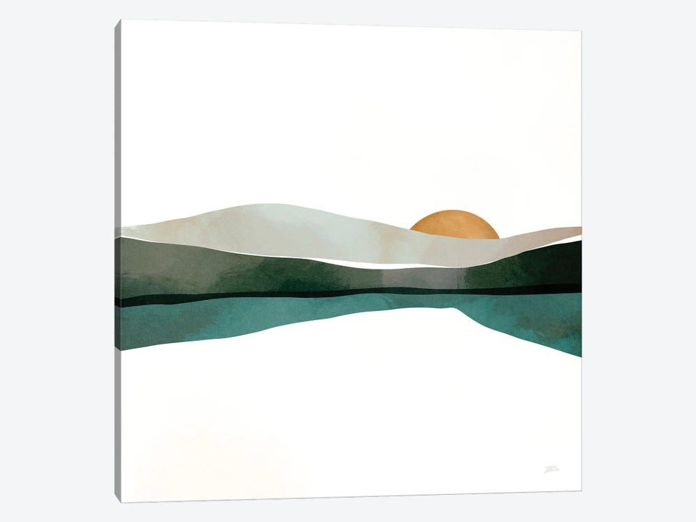 Teal Sunset by Bria Nicole 1-piece Canvas Print