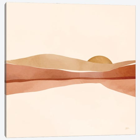 Blush Sunset Canvas Print #BNC116} by Bria Nicole Canvas Art