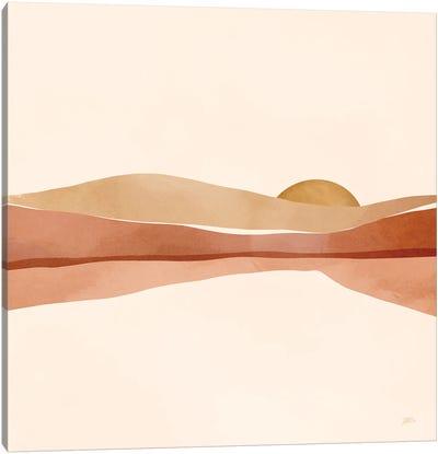 Blush Sunset Canvas Art Print