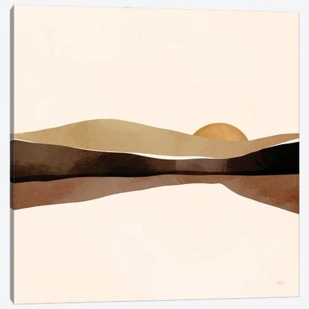 Mocha Sunset Canvas Print #BNC117} by Bria Nicole Canvas Art