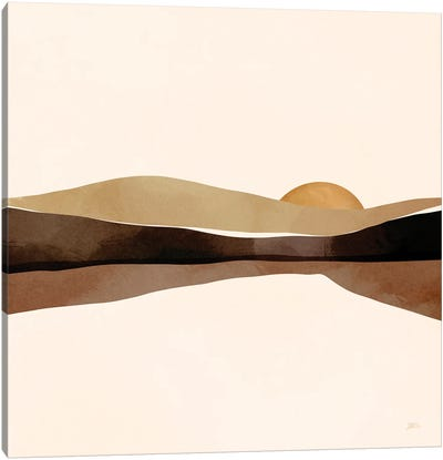Mocha Sunset Canvas Art Print