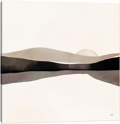 Silver Sunset Canvas Art Print