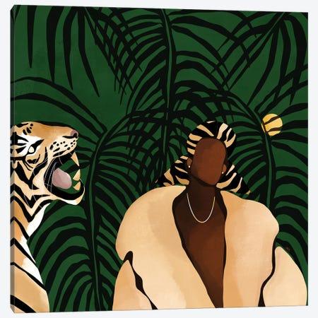 In the Wild (green) Canvas Print #BNC125} by Bria Nicole Canvas Art Print