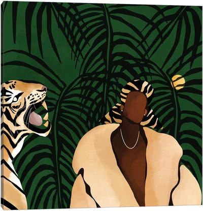 In the Wild (green) Canvas Art Print
