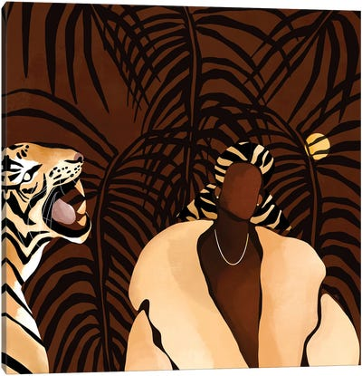 In the Wild (brown) Canvas Art Print