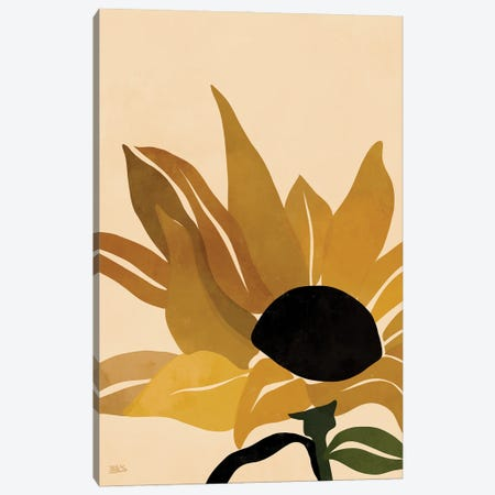 Sunflower Canvas Print #BNC12} by Bria Nicole Canvas Artwork