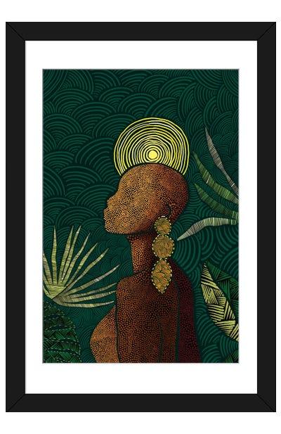 Vea (Teal) Framed Art Print