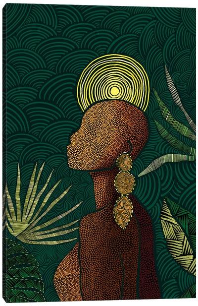Vea (Teal) Canvas Art Print