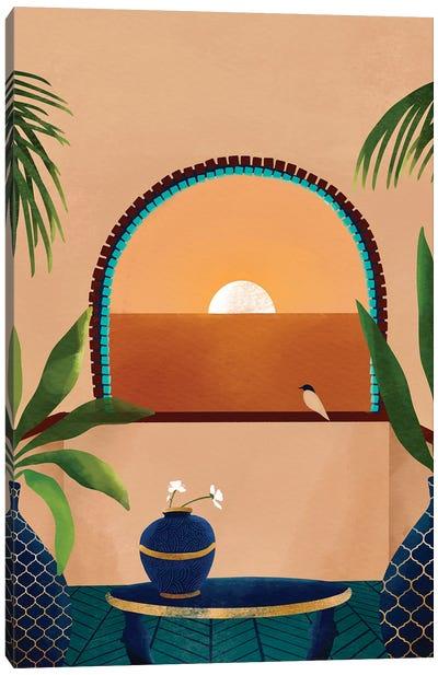 Sunset Balcony Canvas Art Print
