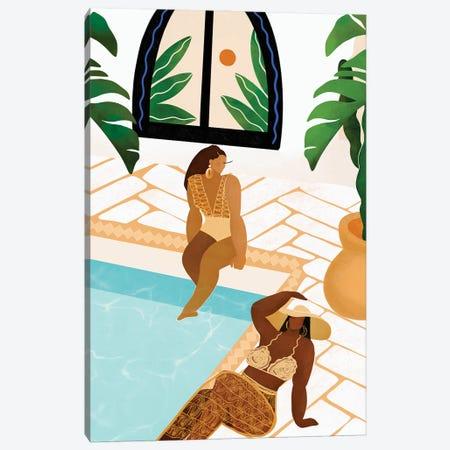 By The Pool Canvas Print #BNC150} by Bria Nicole Canvas Print