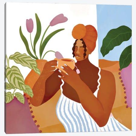 Morning Tea Canvas Print #BNC161} by Bria Nicole Canvas Art