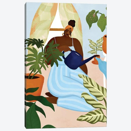 Plant Mama Canvas Print #BNC168} by Bria Nicole Canvas Art