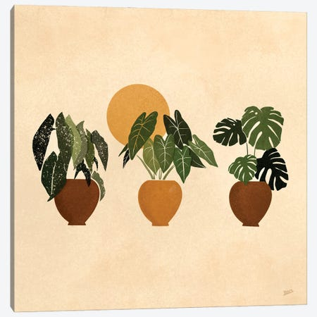 Houseplants I Canvas Print #BNC19} by Bria Nicole Canvas Artwork