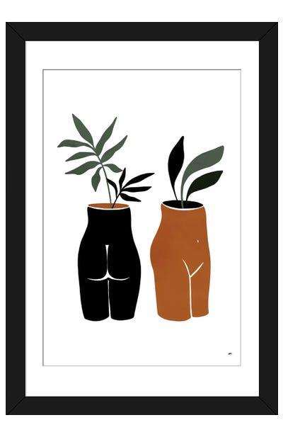 Nude Planters Framed Art Print
