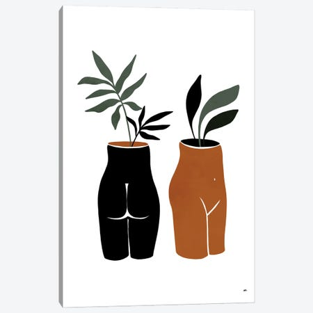 Nude Planters Canvas Print #BNC24} by Bria Nicole Canvas Artwork