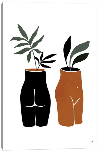 Nude Planters Canvas Art Print