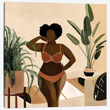 Amber Canvas Print #BNC31} by Bria Nicole Canvas Artwork