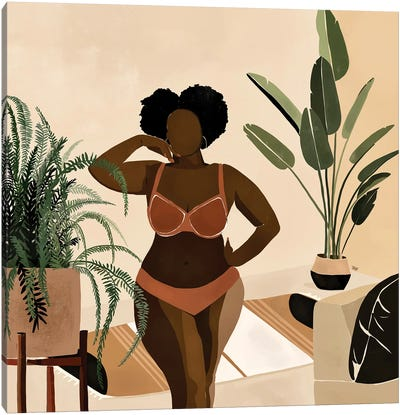 Amber Canvas Art Print