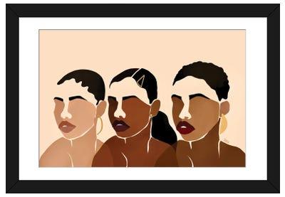 Sisters I Framed Art Print