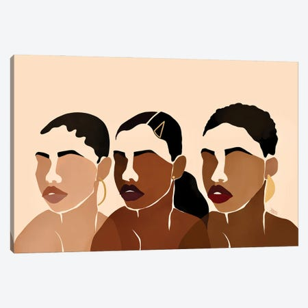 Sisters I Canvas Print #BNC38} by Bria Nicole Canvas Wall Art