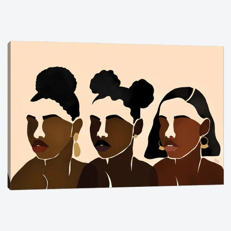 Sisters II Canvas Print #BNC39} by Bria Nicole Canvas Wall Art