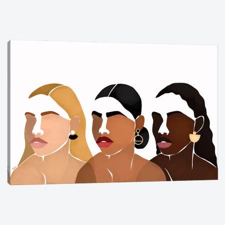 Sisters III Canvas Print #BNC40} by Bria Nicole Art Print