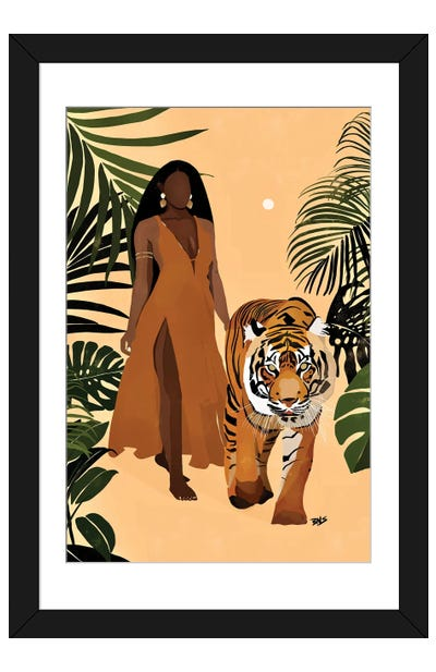 Aliya Framed Art Print
