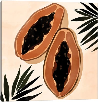 Papaya Canvas Art Print
