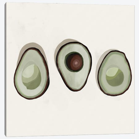 Avocados Canvas Print #BNC47} by Bria Nicole Canvas Art